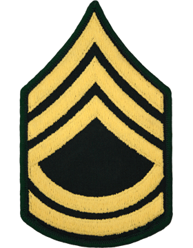 Male Chevron Gold/Green C-107 Sergeant First Class/E-7 (Pair)