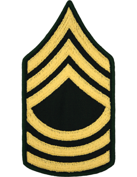 Male Chevron Gold/Green C-108 Master Sergeant/E-8 (Pair)