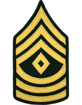 Male Chevron Gold/Green C-109 First Sergeant/E-8 (Pair)