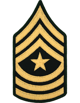 Male Chevron Gold/Green C-110 Sergeant Major/E-9 (Pair)