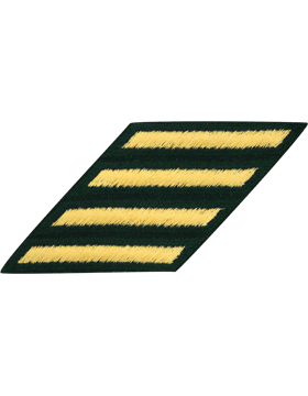 Male Service Stripes Gold/Green C-112