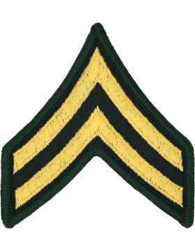 Female Chevron Gold/Green C-203 Corporal/E-4 (Pair)