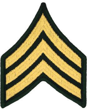 Female Chevron Gold/Green C-205 Sergeant/E-5 (Pair)