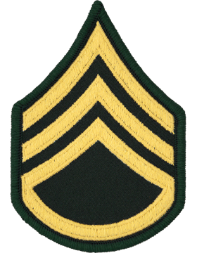 Female Chevron Gold/Green C-206 Staff Sergeant/E-6 (Pair)