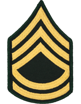 Female Chevron Gold/Green C-207 Sergeant First Class/E-7 (Pair)