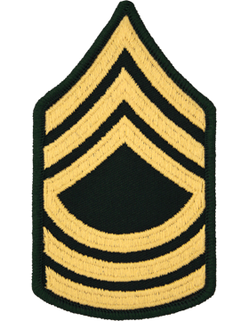 Female Chevron Gold/Green C-208 Master Sergeant/E-8 (Pair)