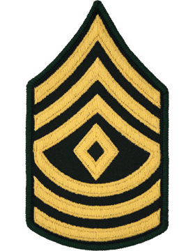 Female Chevron Gold/Green C-209 First Sergeant/E-8 (Pair)