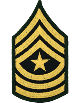 Female Chevron Gold/Green C-210 Sergeant Major/E-9 (Pair)