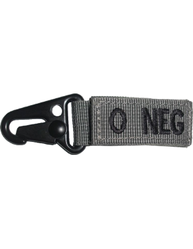 Blood Type Key Chain O NEG Foliage
