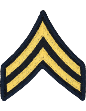 Female Chevron Gold on BlueC-F103 Corporal (E-4) (Pair)