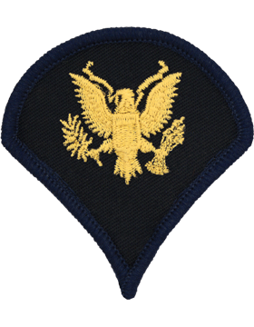 Army Dress Chevron Gold on Blue E-4 Specialist Four (Pair)