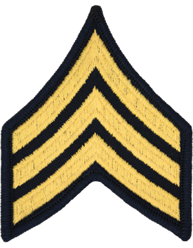Female Chevron Gold on Blue C-F105 Sergeant (E-5) (Pair)