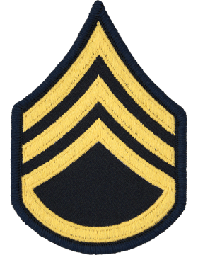 Female Chevron Gold on Blue C-F106 Staff Sergeant (E-6) (Pair)
