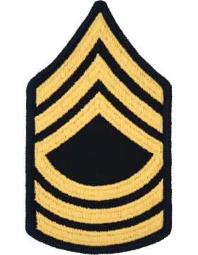 Female Chevron Gold on Blue C-F108 Master Sergeant (E-8) (Pair)