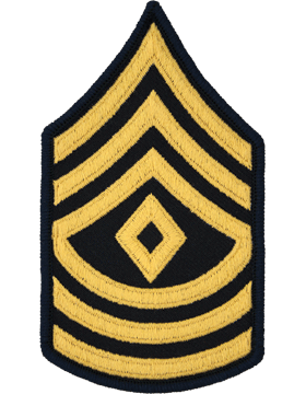 Female Chevron Gold on Blue C-F109 First Sergeant (E-8) (Pair)