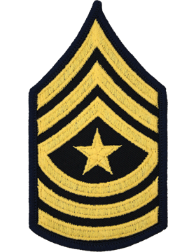 Army Dress Chevron Gold on Blue E-9 Sergeant Major (Pair)