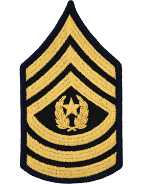 Female Chevron Gold on Blue C-F111 Command Sergeant Major (E-9) (Pair)