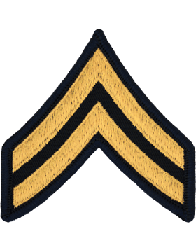Male Chevron Gold on Blue C-M103 Corporal (E-4) (Pair)
