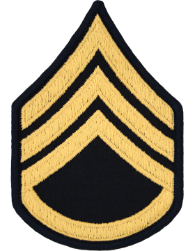 Male Chevron Gold on Blue C-M106 Staff Sergeant (E-6) (Pair)