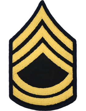 Male Chevron Gold on Blue C-M107 Sergeant First Class (E-7) (Pair)