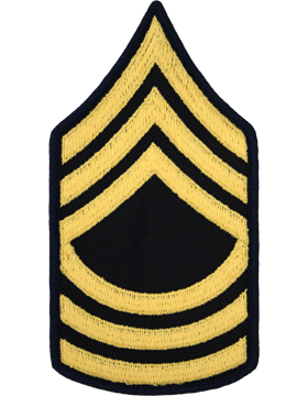 Male Chevron Gold on Blue C-M108 Master Sergeant (E-8) (Pair)