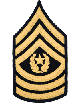 Male Chevron Gold on Blue C-M111 Command Sergeant Major (E-9) (Pair)