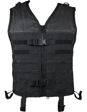 Molle Modular Assault Vest Black M-XL Adjustable MV