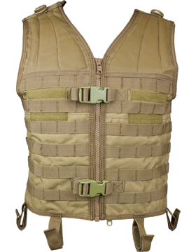 Molle Modular Assault Vest Tan M-XL Adjustable MV