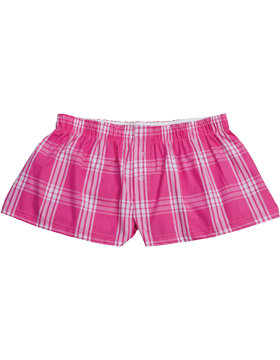 Cotton Bitty Boxer C40 Fuchsia Plaid
