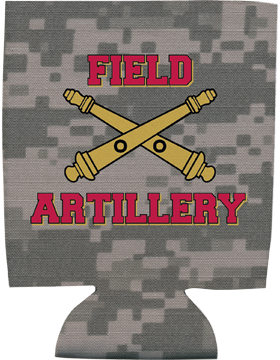 Collapsible Can Insulator, Field Artillery with Cannons, Camo