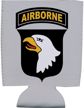 Collapsible Can Insulator, 101st Airborne Division with Tab, Gray
