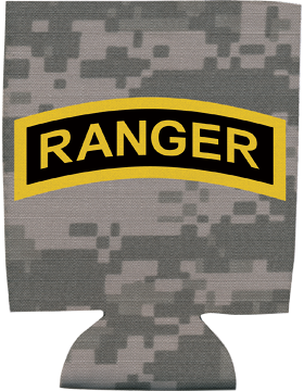 Collapsible Can Insulator, Gold/Black Ranger Tab, Camo