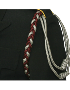 Single Braid Shoulder Cord with 2 Knots No Tip (Two Color) small