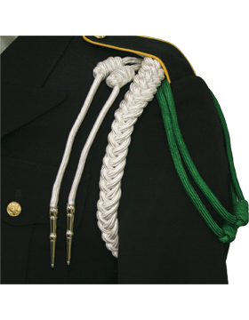 Single Braid Shoulder Cord with 2 Knots 2 Nickel Tips (Two Color)
