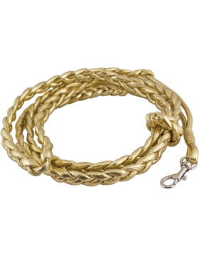 Shoulder Cord (CD-P125) Gold Mylar Pistol Lanyard Braid with No Tip