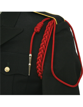 USAF Red Shoulder Cord with Two Strands with Tip