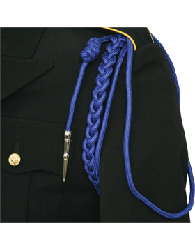 Shoulder Cord (CD-R104N) Royal Blue USAF w/ 2 Strands Nickel Tip