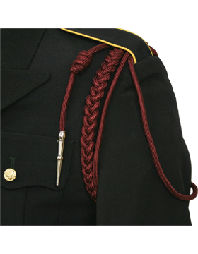 USAF Maroon Shoulder Cord with Two Strands with Tip