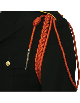 Shoulder Cord (CD-R109N) Orange USAF w/ 2 Strands Nickel Tip