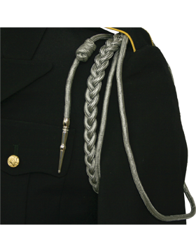Shoulder Cord (CD-R111N) Gray USAF w/ 2 Strands Nickel Tip