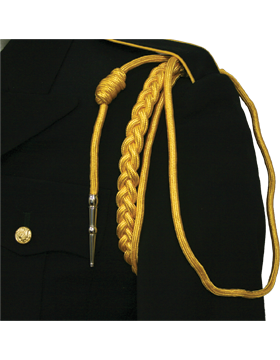 Shoulder Cord (CD-R116N) Yellow USAF w/ 2 Strands Nickel Tip