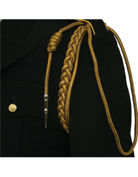 USAF Buff Shoulder Cord with Two Strands with Tip