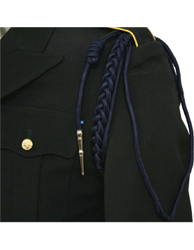 USAF Navy Blue Shoulder Cord with Two Strands with Tip