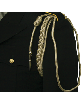 USAF Ivory Shoulder Cord with Two Strands with Tip