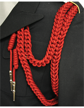 Shoulder Cord (CD-S103N) Red USAF Dress Aiguillette With Nickel Tip
