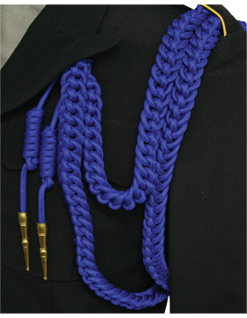 Shoulder Cord (CD-S104G) Royal Blue USAF Dress Aiguillette With Gold Tip
