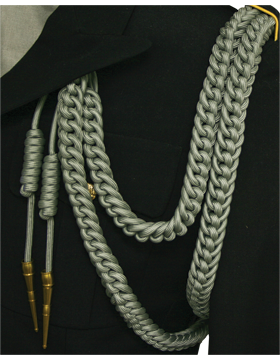 Shoulder Cord (CD-S111G) Gray USAF Dress Aiguillette With Gold Tip