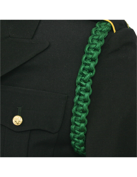 Shoulder Cord (CD-ZC105) Kelly Green with Braid No Tip