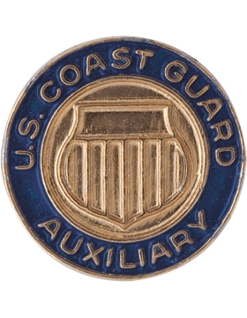 CGA-203 U.S.COAST GUARD AUXILIARY TIE TAC GOLD with BLUE ENAMEL