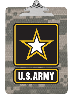 Clipboard U.S. Army with Star on Camo with Standard Clip